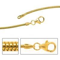 SIGO Schlangenkette 333 Gelbgold 1,4 mm 42 cm Gold Kette Halskette Goldkette