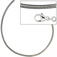 SIGO Schlangenkette 925 Silber 1,6 mm 50 cm Halskette Kette Silberkette Karabiner
