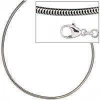 SIGO Schlangenkette 925 Silber 1,9 mm 50 cm Halskette Kette Silberkette Karabiner