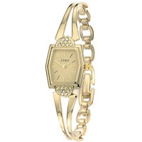 JOBO Damen Armbanduhr Quarz Analog vergoldet Damenuhr eckig - Angebote