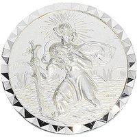 SIGO Autoplakette Schutzpatron Christopherus 925 Sterling Silber mattiert