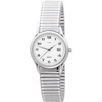 JOBO Damen Armbanduhr Quarz Analog Edelstahl Flexband Datum Damenuhr - Angebote