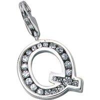 SIGO Einhänger Charm Buchstabe Q 925 Sterling Silber mit Zirkonia