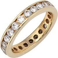 SIGO Damen Ring 333 Gold Gelbgold mit Zirkonia rundum Goldring