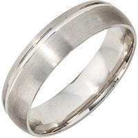 SIGO Partner Ring 925 Sterling Silber rhodiniert mattiert Silberring