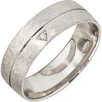 SIGO Partner Ring 925 Sterling Silber rhodiniert eismatt 1 Zirkonia Silberring