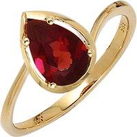 SIGO Damen Ring 585 Gold Gelbgold 1 Granat rot Goldring