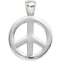 SIGO Anhänger Peace 925 Sterling Silber rhodiniert