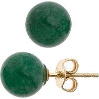 SIGO Ohrstecker Kugel 333 Gold Gelbgold 2 Aventurine grün Ohrringe Goldohrstecker