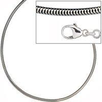 SIGO Schlangenkette 925 Silber 1,9 mm 80 cm Halskette Kette Silberkette Karabiner
