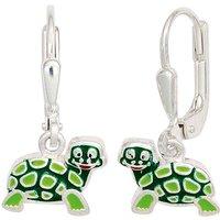 SIGO Kinder Boutons Schildkröte grün 925 Silber Ohrringe Ohrhänger Kinderohrringe