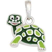 SIGO Kinder Anhänger Schildkröte grün 925 Sterling Silber rhodiniert Kinderanhänger