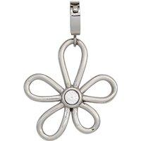SIGO Einhänger Charm Blume aus Edelstahl mit SWAROVSKI® ELEMENT