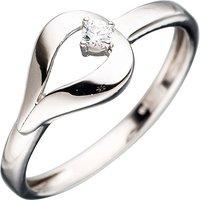 SIGO Damen Ring 333 Gold Weißgold 1 Zirkonia Goldring Weißgoldring