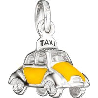 SIGO Kinder Anhänger Auto / Taxi 925 Silber mit gelber Lackeinlage Kinderanhänger