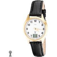 JOBO Damen Armbanduhr Edelstahl vergoldet Leder Datum Damenuhr - Angebote