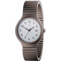 JOBO Herren Armbanduhr Quarz Analog Titan Flexband Datum Herrenuhr - Angebote