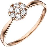 SIGO Damen Ring 333 Gold Rotgold 7 Zirkonia Rotgoldring