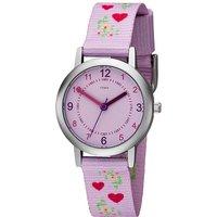 JOBO Kinder Armbanduhr Herzen rosa pink Quarz Kinderuhr Mädchenuhr - Angebote