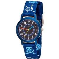 JOBO Kinder Armbanduhr Pirat blau Quarz Aluminium Kinderuhr Jungenuhr - Angebote