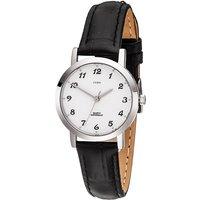 JOBO Damen Armbanduhr Quarz Analog Edelstahl Lederband schwarz Damenuhr - Angebote
