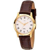 JOBO Damen Armbanduhr Quarz Analog Edelstahl gold vergoldet Leder Damenuhr - Angebote