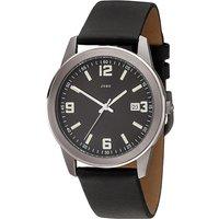 JOBO Herren Armbanduhr Quarz Analog Titan Lederband schwarz Herrenuhr mit Datum - Angebote