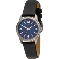 JOBO Damen Armbanduhr Quarz Analog Titan Lederband schwarz Damenuhr - Angebote