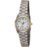 JOBO Damen Armbanduhr Quarz Analog Titan bicolor vergoldet Damenuhr - Angebote