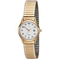JOBO Damen Armbanduhr Quarz Analog Edelstahl gold vergoldet Flexband Datum - Angebote