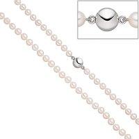 SIGO Perlenkette mit Akoya Perlen 45 cm Magnet-Schließe aus 925 Sterlingsilber