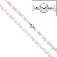 SIGO Perlenkette mit Akoya Zuchtperlen 45 cm Magnet-Schließe aus 925 Sterlingsilber