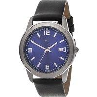 JOBO Herren Armbanduhr Quarz Analog blau Titan Lederband schwarz Herrenuhr Datum - Angebote