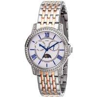 JOBO Damen Armbanduhr Quarz Analog Edelstahl bicolor mit SWAROVSKI® ELEMENTS - Angebote