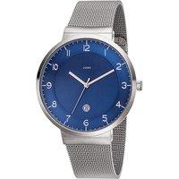 JOBO Herren Armbanduhr blau Quarz Analog Edelstahl Datum Herrenuhr - Angebote