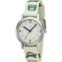 JOBO Kinder Armbanduhr Eule Eulen hellgrün grün Quarz Analog Kinderuhr - Angebote