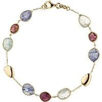 SIGO Armband 585 Gold Gelbgold 9 Turmaline 19 cm Edelsteinarmband - Angebote