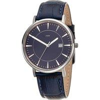 JOBO Herren Armbanduhr Quarz Analog Titan Lederband blau Datum Herrenuhr - Angebote