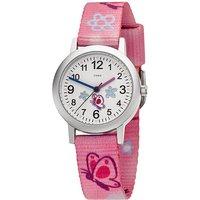 JOBO Kinder Armbanduhr Schmetterling pink rosa Quarz Analog Aluminium Kinderuhr - Angebote