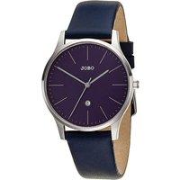 JOBO Damen Armbanduhr Quarz Analog Edelstahl Lederband blau Datum Damenuhr - Angebote