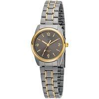 JOBO Damen Armbanduhr Quarz Analog Titan bicolor vergoldet - Angebote