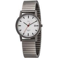 JOBO Herren Armbanduhr Quarz Analog Titan Flexband mit Datum - Angebote