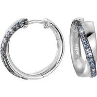 Esprit Creolen 925 Silber Brilliance COUPLE BLUE Zirkonia