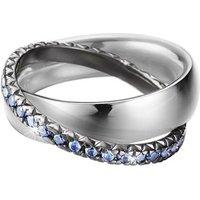 Esprit Ring 925 Silber BRILLIANCE COUPLE BLUE Zirkonia, 57 - 18,1