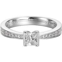 Esprit Ring 925 Silber Solitaire Zirkonia, 53 - 16,9