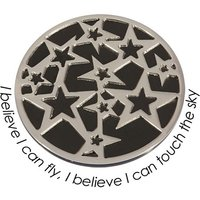 Quoins Wechsel-Münze I Believe I can Fly, I Believe I can touch the Sky, PVD Black Plated, L