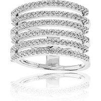 Sif Jakobs Ring 925 Silber Rufina Piccolo mit weißen Zirkonia, 56 / 17,8