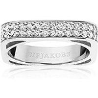 Sif Jakobs Ring 925 Silber Metera - mit weißen Zirkonia, 54 - 17,2