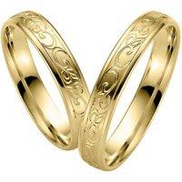 LOVE by Goettgen Trauringe Paar, Gelb 333 Gold, Eheringe