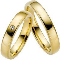 LOVE by Goettgen Trauringe Paar, Gelb 333 Gold, Eheringe, bei Damenring inkl. 1 Brillant - Angebote